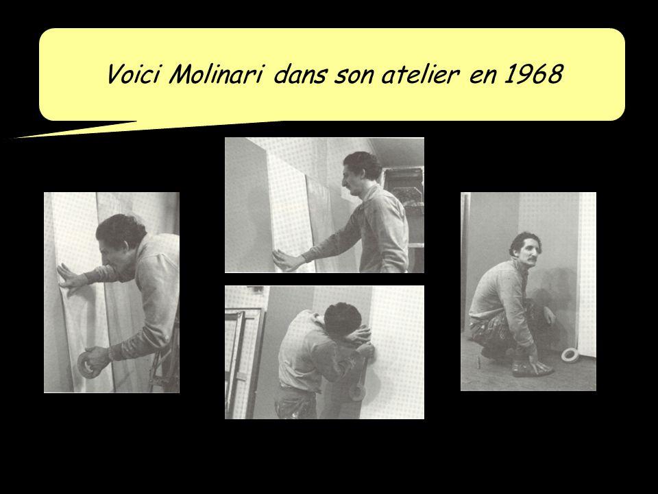 Voici Molinari dans son atelier en 1968