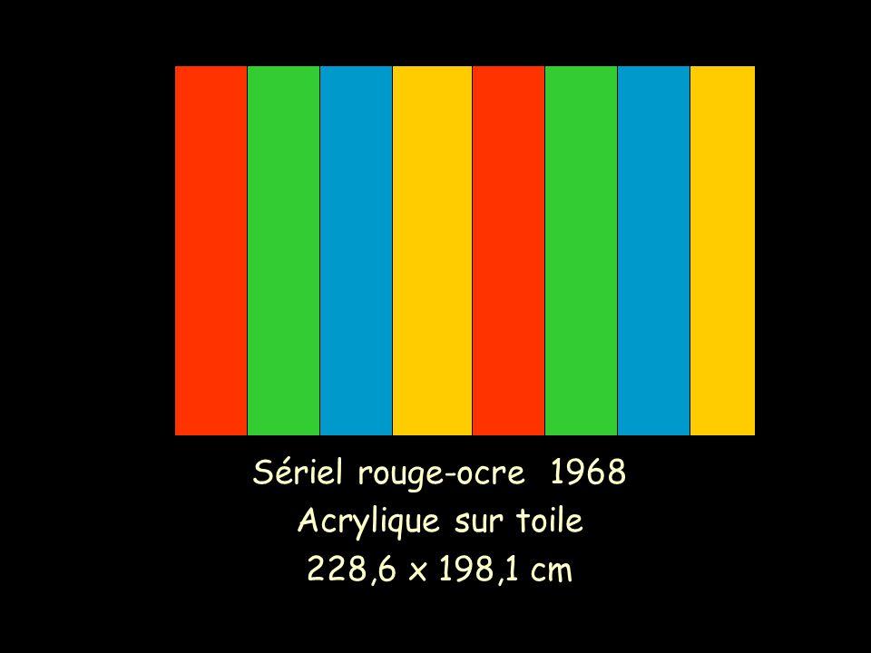 Sériel rouge-ocre 1968 Acrylique sur toile 228,6 x 198,1 cm