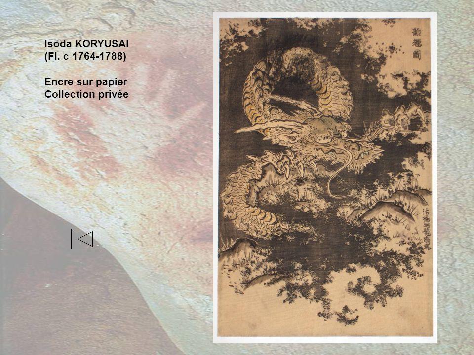 Isoda KORYUSAI (Fl. c 1764-1788) Encre sur papier Collection privée