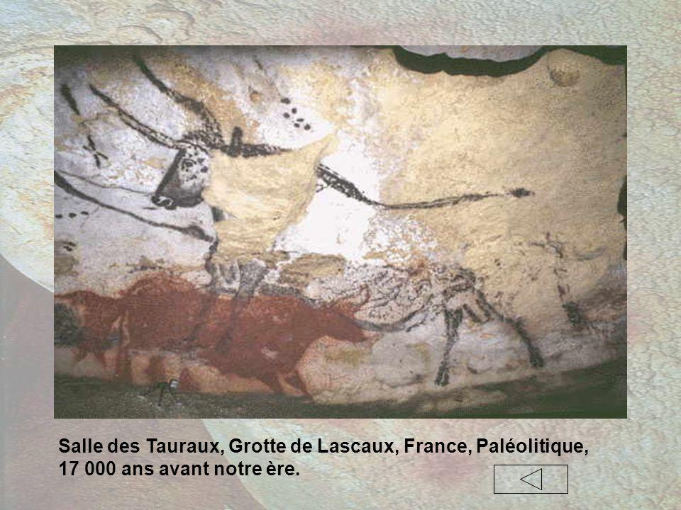 Salle des Tauraux, Grotte de Lascaux, France, Paléolitique, 17 000 ans avant notre ère.