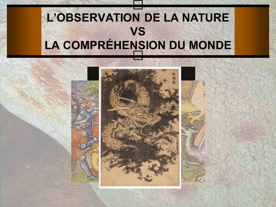 LOBSERVATION DE LA NATURE VS LA COMPRÉHENSION DU MONDE