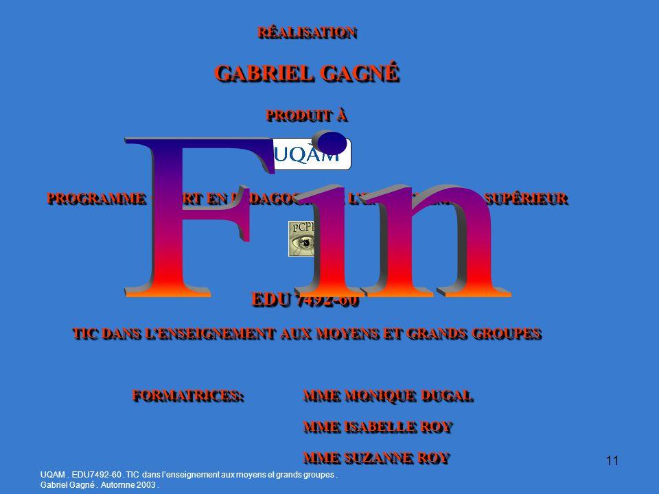 UQAM. EDU7492-60. TIC dans lenseignement aux moyens et grands groupes.