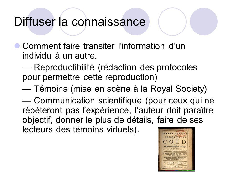 Diffuser la connaissance Comment faire transiter linformation dun individu à un autre.