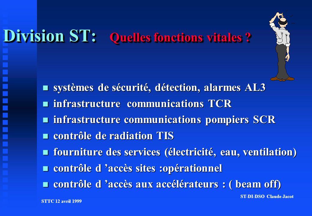 Division ST: Quelles fonctions vitales .