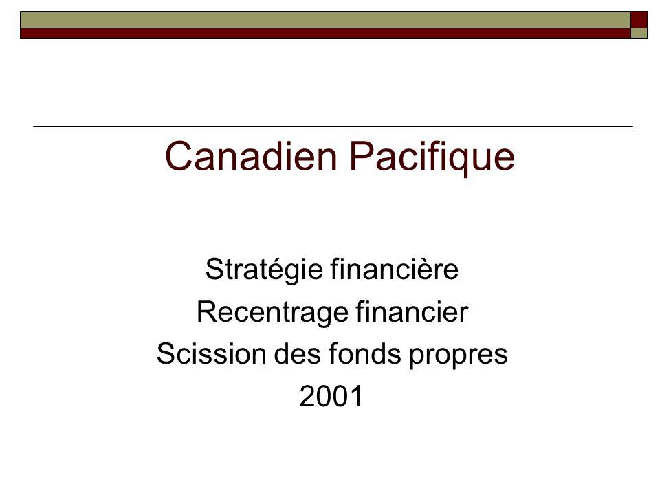 Canadien Pacifique Stratégie financière Recentrage financier Scission des fonds propres 2001