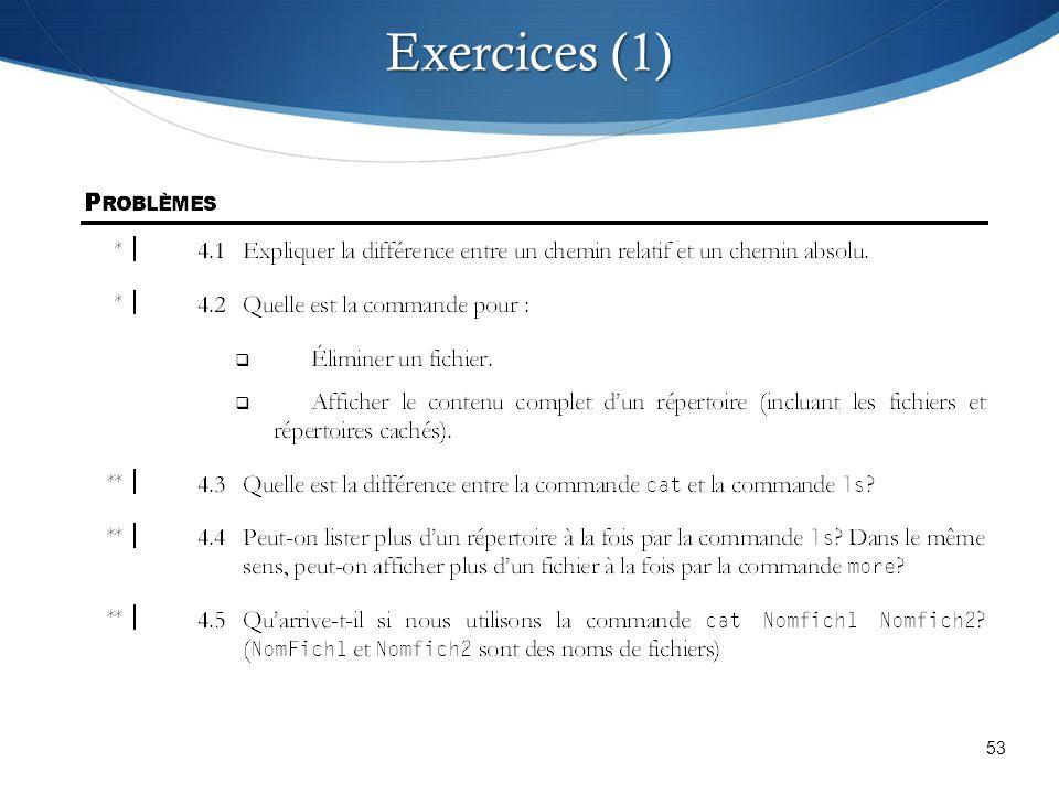 53 Exercices (1)