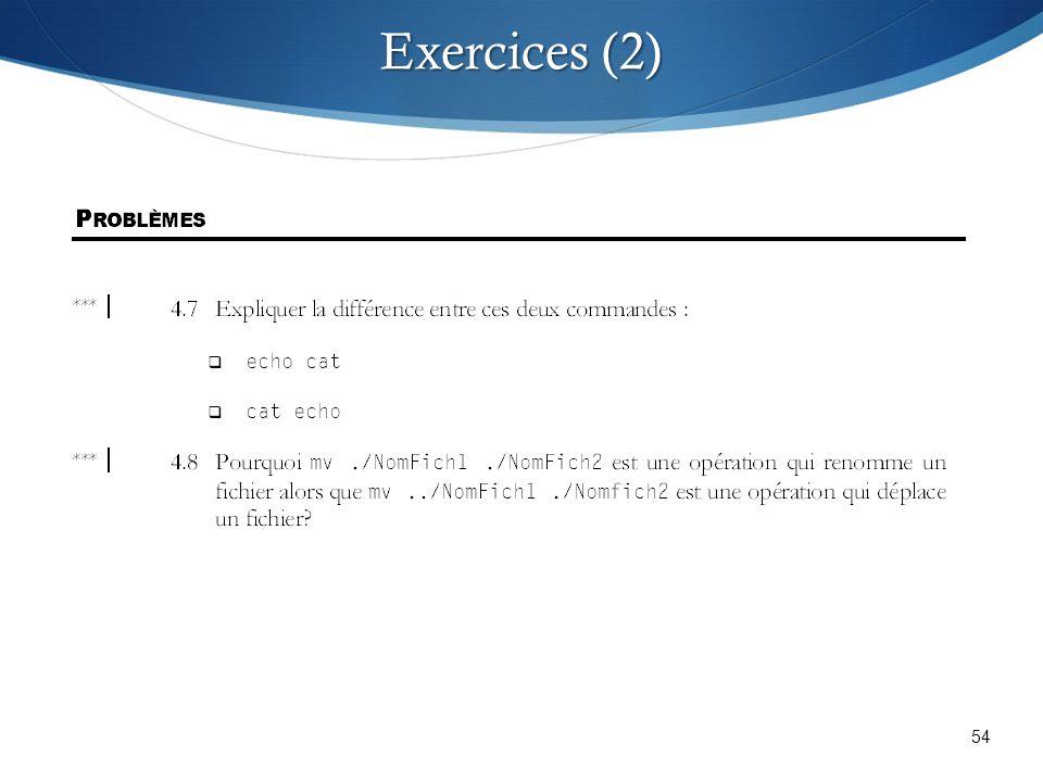 54 Exercices (2)