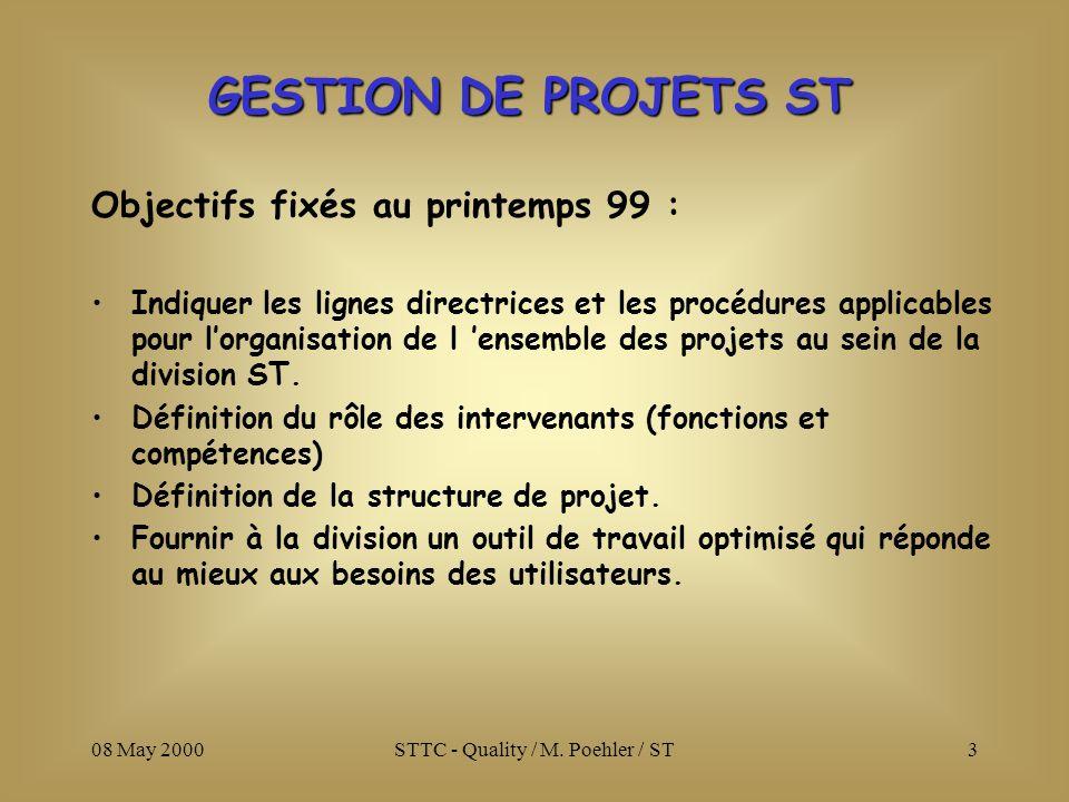 08 May 2000STTC - Quality / M.Poehler / ST4 DOCUMENT 1 1.