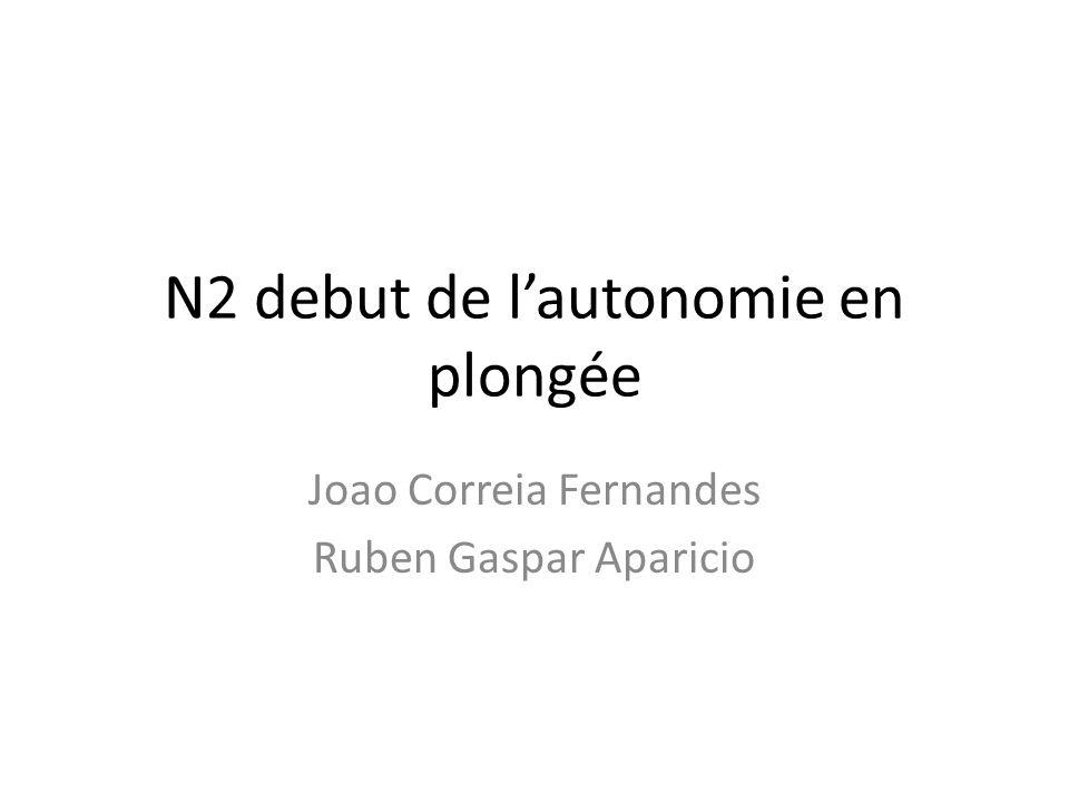 N2 debut de lautonomie en plongée Joao Correia Fernandes Ruben Gaspar Aparicio