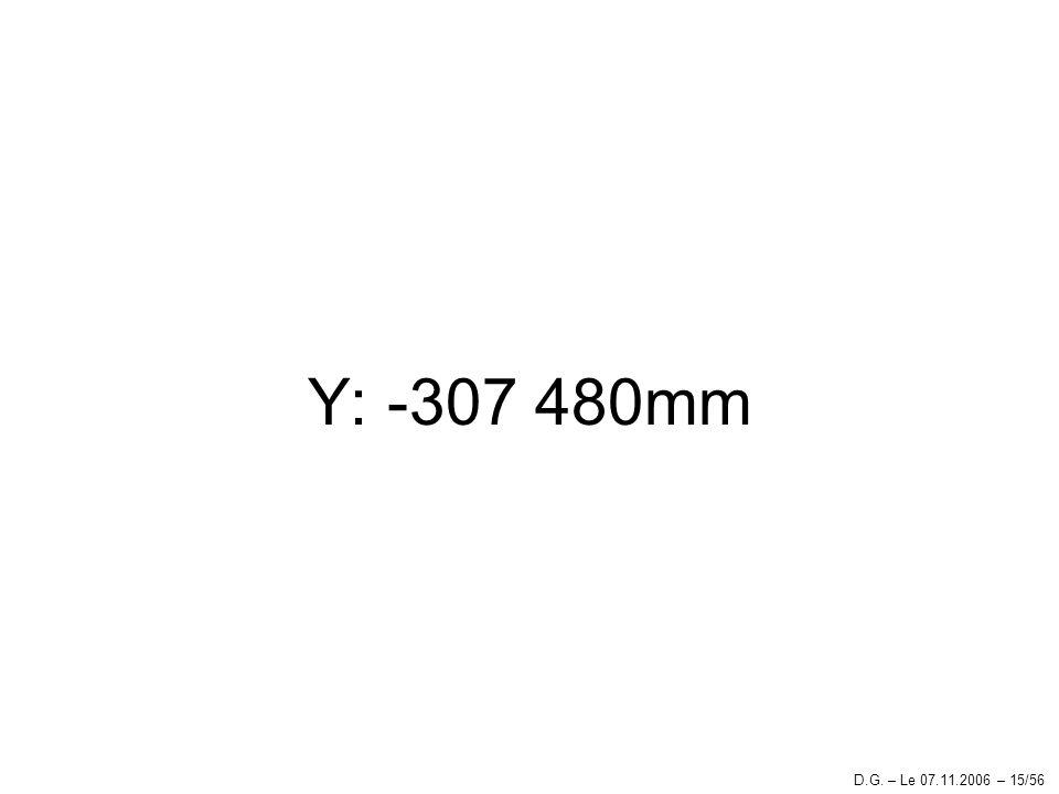 Y: -307 480mm D.G. – Le 07.11.2006 – 15/56