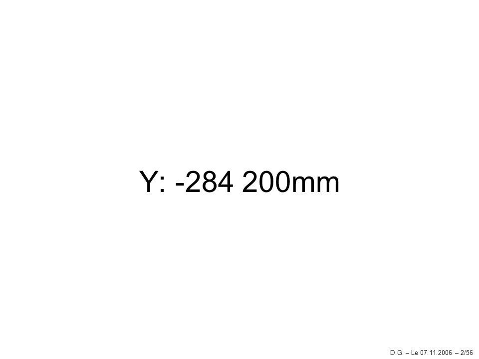 Y: -284 200mm D.G. – Le 07.11.2006 – 2/56