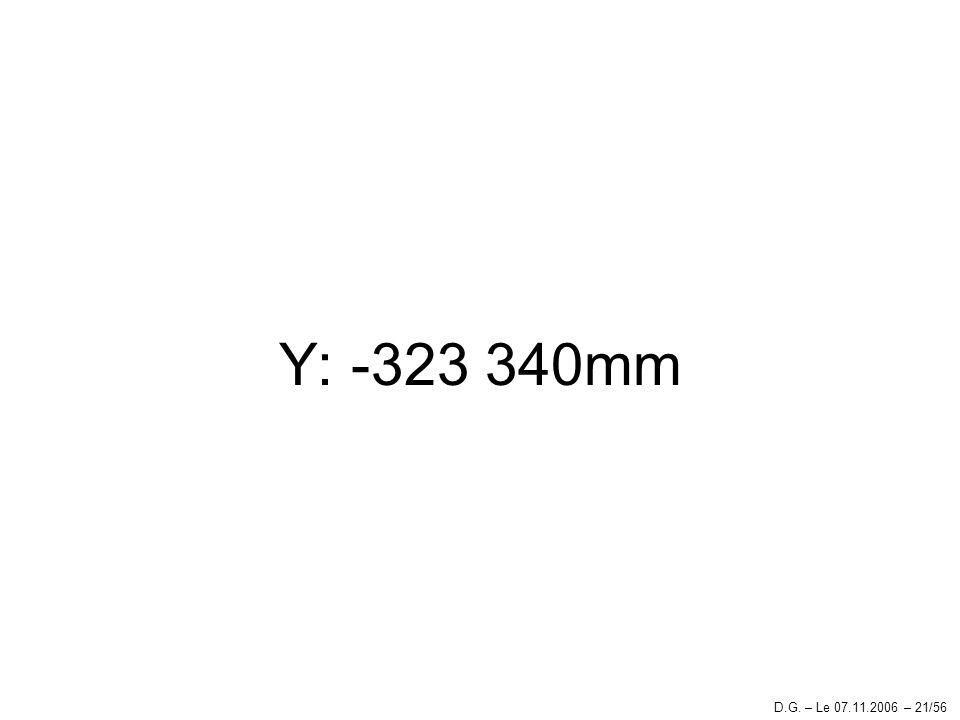 Y: -323 340mm D.G. – Le 07.11.2006 – 21/56