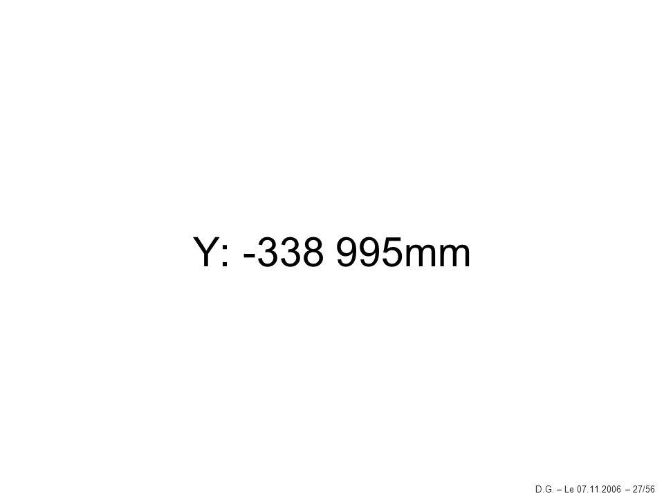 Y: -338 995mm D.G. – Le 07.11.2006 – 27/56