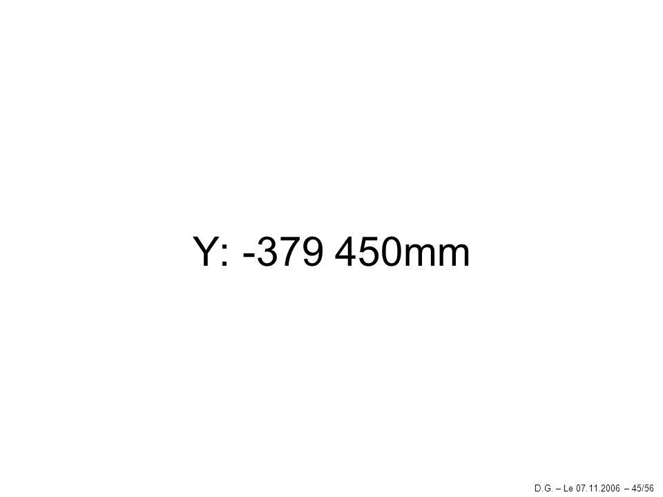 Y: -379 450mm D.G. – Le 07.11.2006 – 45/56