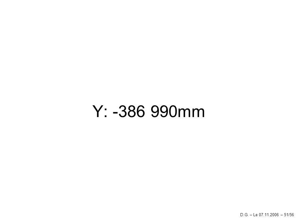Y: -386 990mm D.G. – Le 07.11.2006 – 51/56