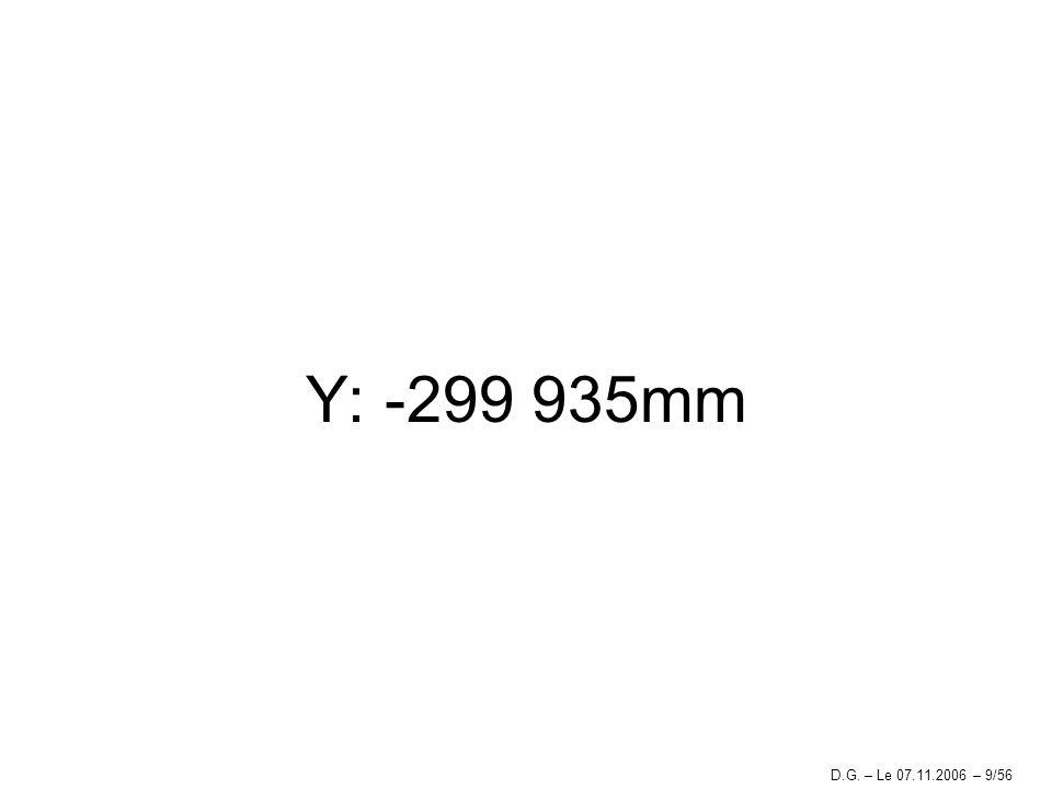 Y: -299 935mm D.G. – Le 07.11.2006 – 9/56