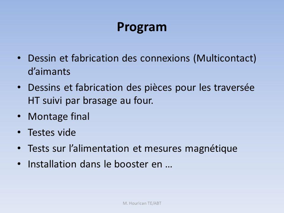 Program Dessin et fabrication des connexions (Multicontact) daimants Dessins et fabrication des pièces pour les traversée HT suivi par brasage au four.