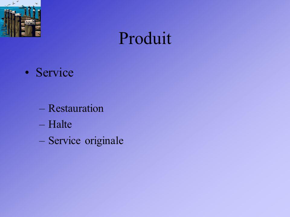 Produit Service –Restauration –Halte –Service originale