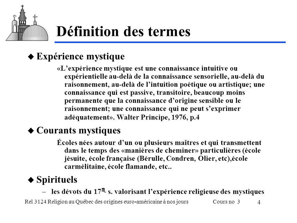 Rel 3124 Religion au Québec des origines euro-américaine à nos joursCours no 3 5 Le tiers des saints français du XVII e s.