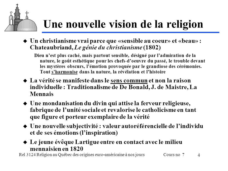 Rel 3124 Religion au Québec des origines euro-américaine à nos joursCours no 7 5 Une société en proie aux crises Crise de léconomie rurale Pressions démographiques tensions socio-ethnique Paralysie des institutions politiques Échec des soulèvements révolutionnaires