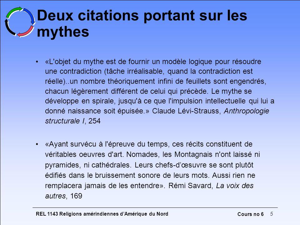 REL 1143 Religions amérindiennes dAmérique du Nord6 Cours no 6 Compréhension du mythe : structure et événement Structure : ce que l analyse scientifique peut parvenir à construire, i.e.