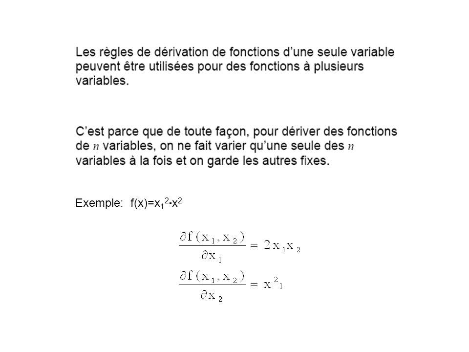 Exemple: f(x)=x 1 2 x 2