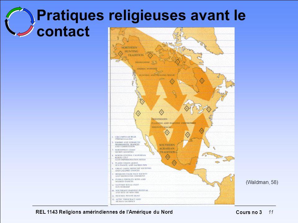 REL 1143 Religions amérindiennes de lAmérique du Nord11 Cours no 3 (Waldman, 58) Pratiques religieuses avant le contact