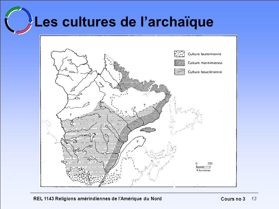 REL 1143 Religions amérindiennes de lAmérique du Nord13 Cours no 3 Les cultures de larchaïque