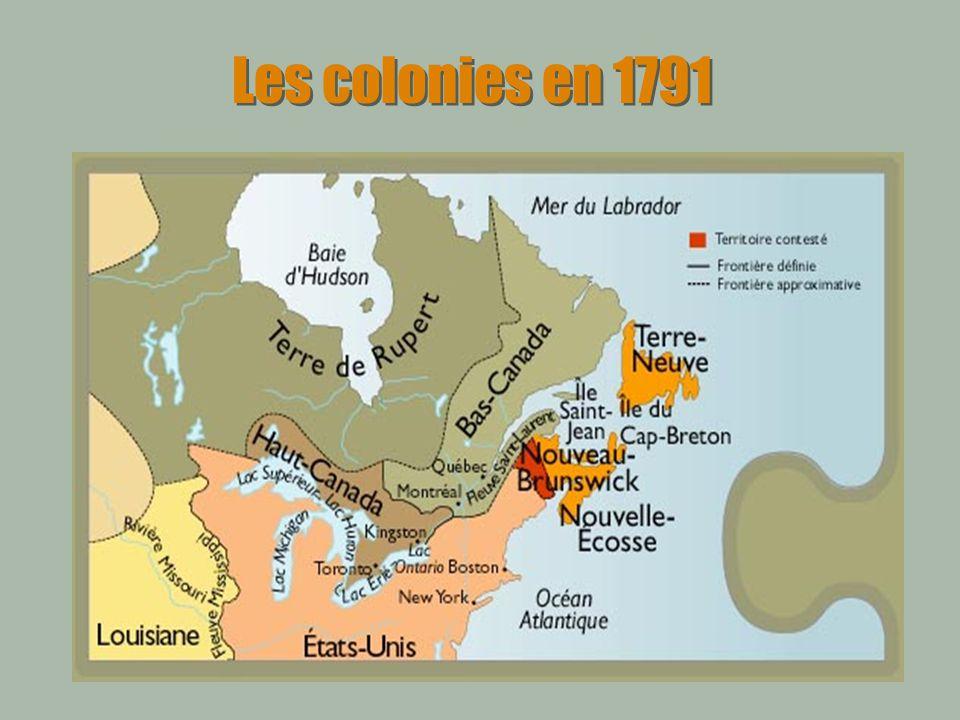 Lacte dUnion 1840 Création dun parlement unique Égalité de la représentation entre le Haut et le Bas Canada Langlais devient la seule langue officielle des débats