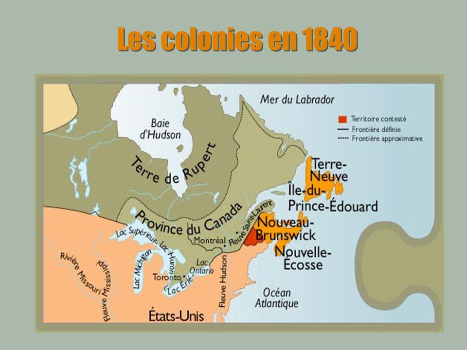 Les colonies en 1840