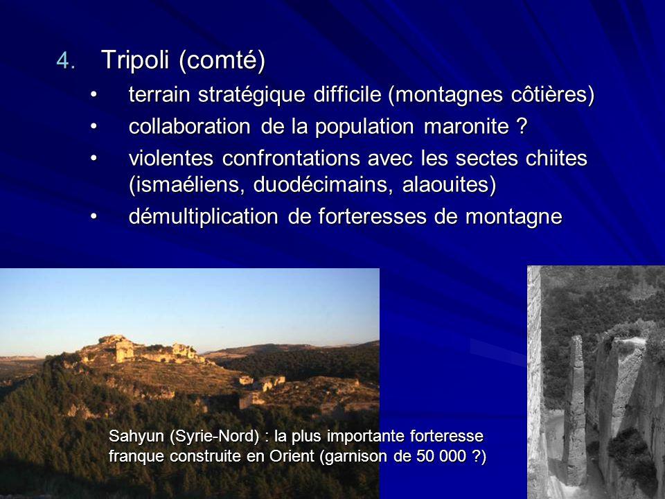 4. Tripoli (comté) terrain stratégique difficile (montagnes côtières)terrain stratégique difficile (montagnes côtières) collaboration de la population