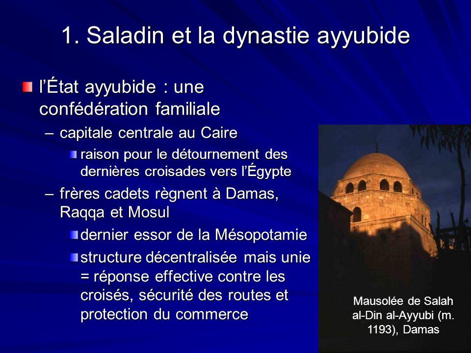 1. Saladin et la dynastie ayyubide lÉtat ayyubide : une confédération familiale –capitale centrale au Caire raison pour le détournement des dernières
