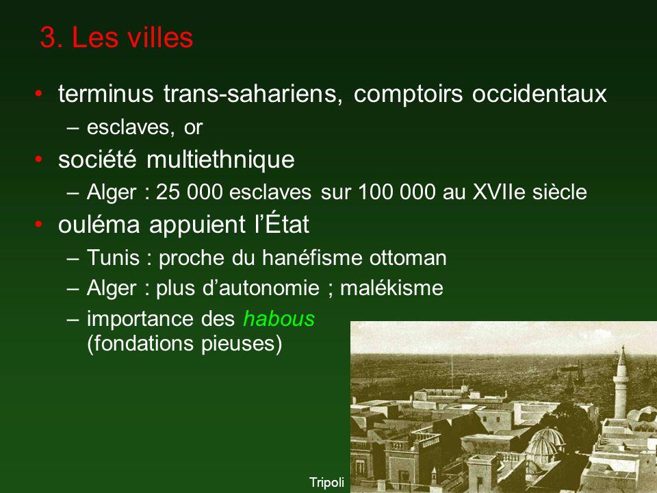 3. Les villes terminus trans-sahariens, comptoirs occidentaux –esclaves, or société multiethnique –Alger : 25 000 esclaves sur 100 000 au XVIIe siècle