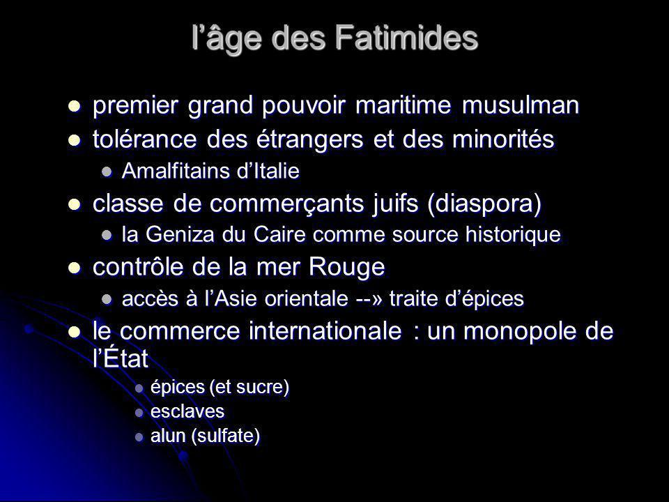 lâge des Fatimides premier grand pouvoir maritime musulman premier grand pouvoir maritime musulman tolérance des étrangers et des minorités tolérance