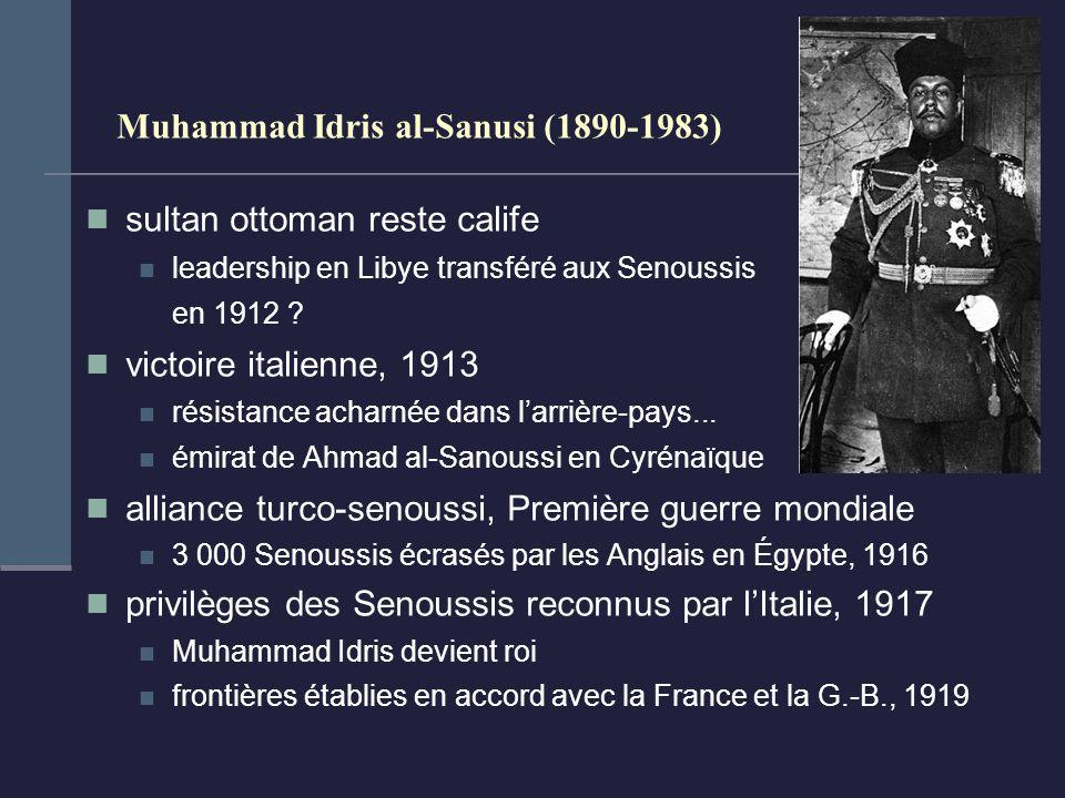 Muhammad Idris al-Sanusi (1890-1983) sultan ottoman reste calife leadership en Libye transféré aux Senoussis en 1912 .