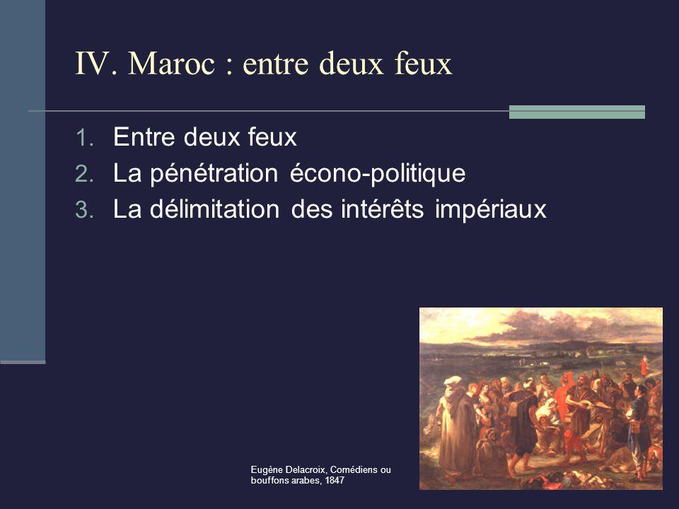 IV.Maroc : entre deux feux 1. Entre deux feux 2. La pénétration écono-politique 3.