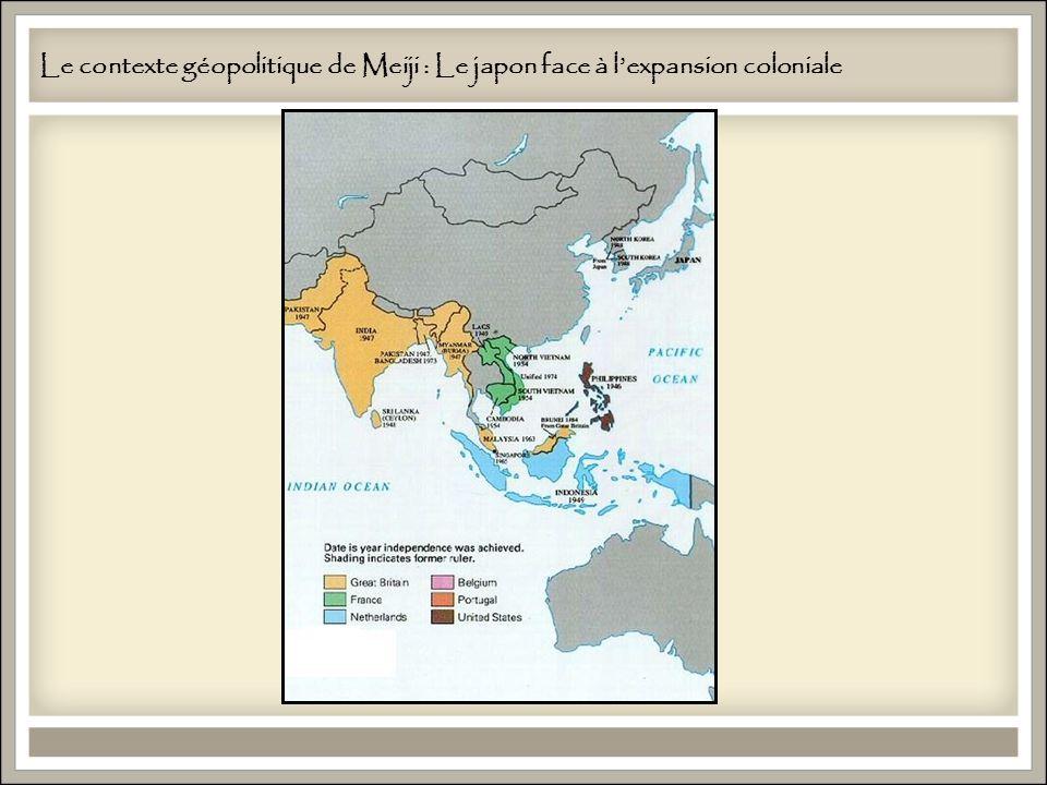 Le contexte géopolitique de Meiji : Le japon face à lexpansion coloniale