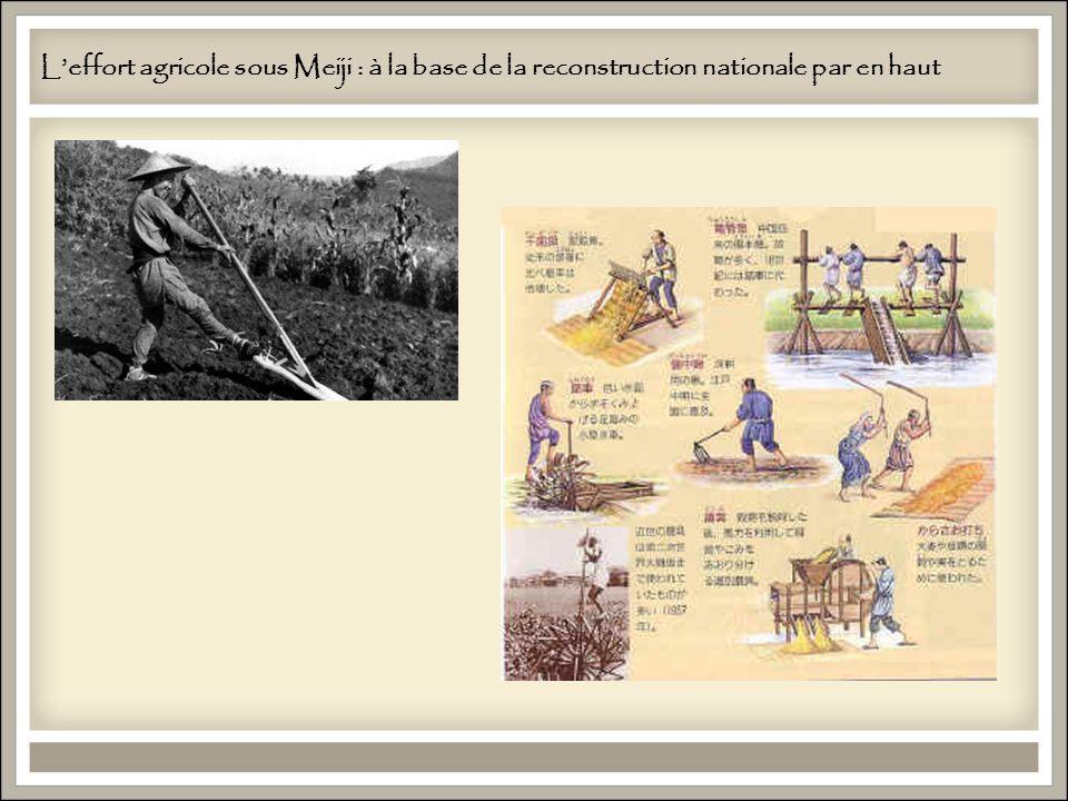 Leffort agricole sous Meiji : à la base de la reconstruction nationale par en haut