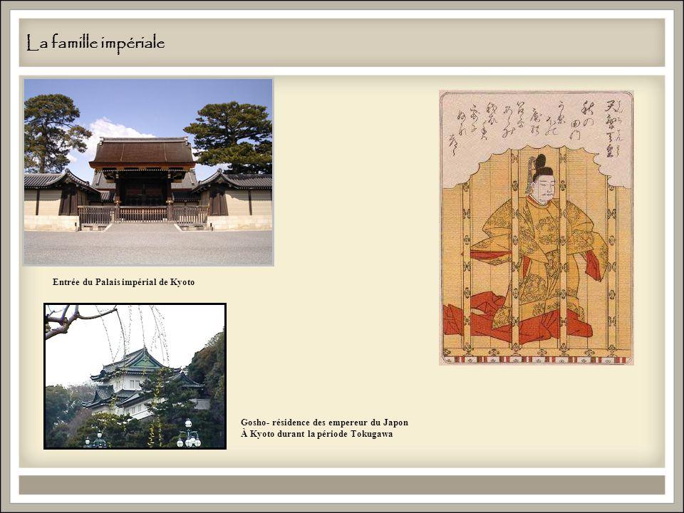 La famille impériale Entrée du Palais impérial de Kyoto Gosho- résidence des empereur du Japon À Kyoto durant la période Tokugawa
