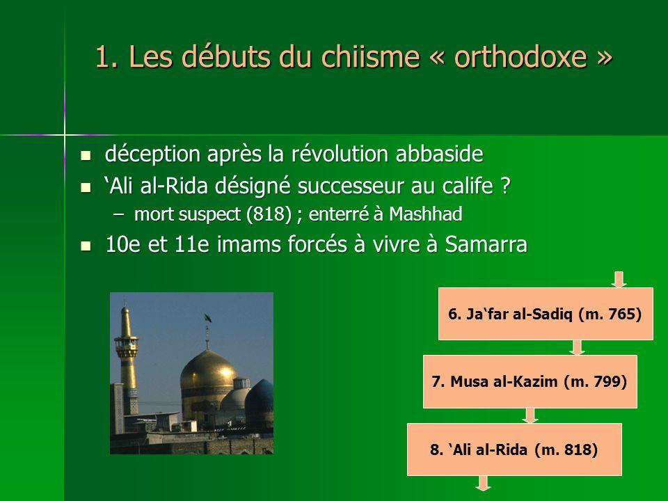 6.Jafar al-Sadiq (m. 765) 7. Musa al-Kazim (m. 799) 8.
