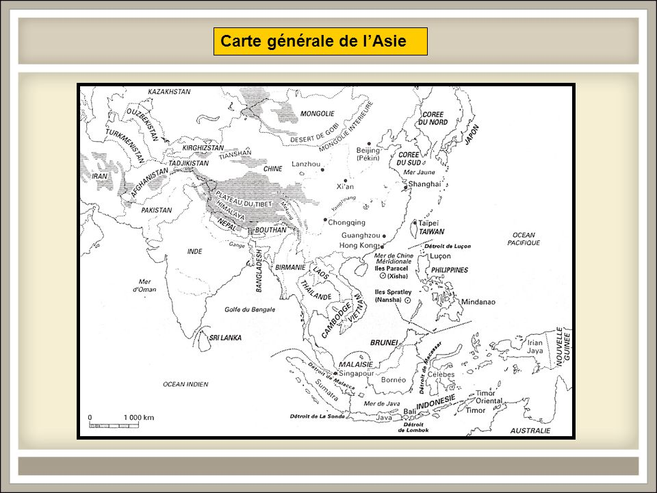 Carte générale de lAsie