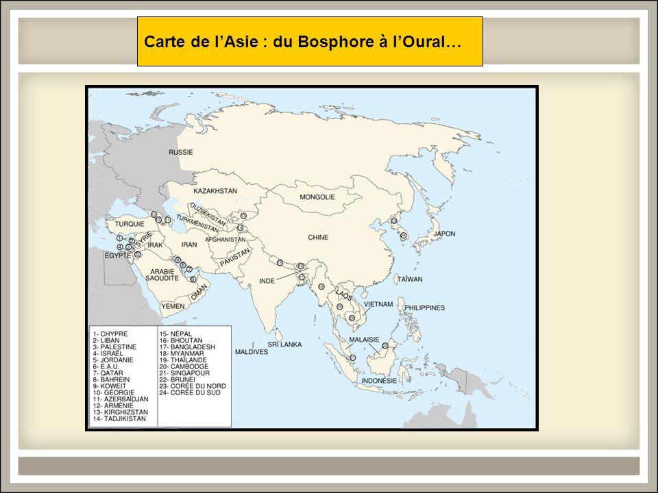 Carte de lAsie : du Bosphore à lOural…