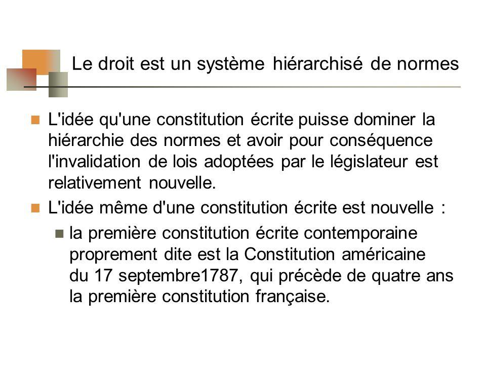 Le constitutionnalisme Définition Le principe du constitutionnalisme ressemble beaucoup au principe de la primauté du droit, mais ils ne sont pas identiques.