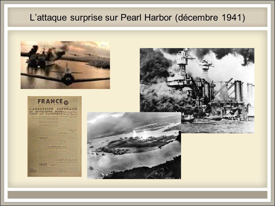 Lattaque surprise sur Pearl Harbor (décembre 1941)