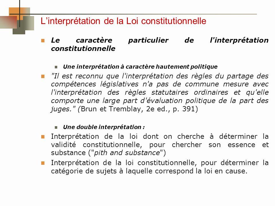 Linterprétation de la Loi constitutionnelle Dans Multani c.