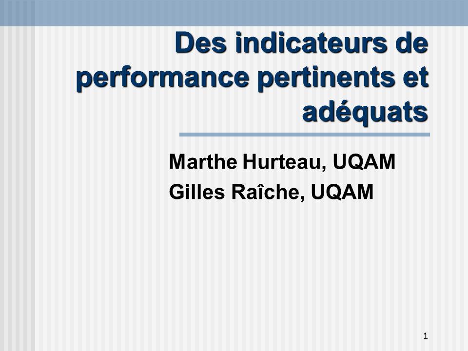 2 Plan de la présentation Objectifs Distinction et définitions Des critères pertinents Des critères adéquats Les « apprentissages » tirés de lexpérience