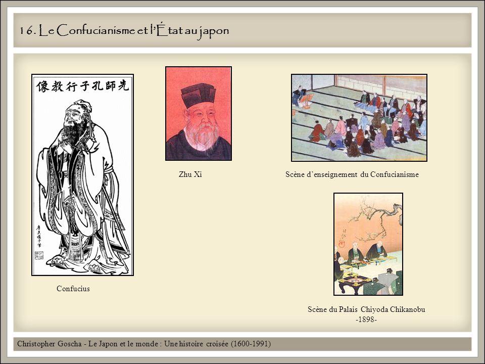 16. Le Confucianisme et lÉtat au japon Christopher Goscha - Le Japon et le monde : Une histoire croisée (1600-1991) Confucius Zhu Xi Scène du Palais C
