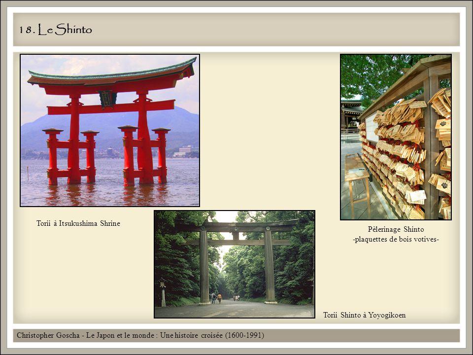 18. Le Shinto Christopher Goscha - Le Japon et le monde : Une histoire croisée (1600-1991) Torii à Itsukushima Shrine Pèlerinage Shinto -plaquettes de