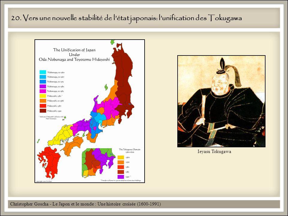 20. Vers une nouvelle stabilité de létat japonais: lunification des Tokugawa Christopher Goscha - Le Japon et le monde : Une histoire croisée (1600-19