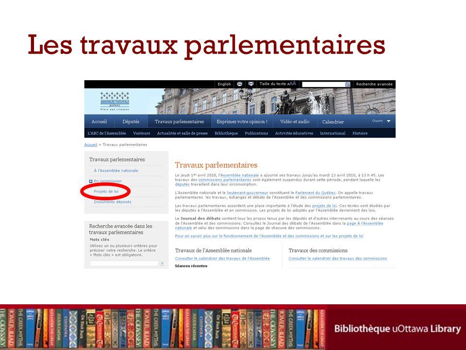 Information sur les projets de loi du Québec Cliquez ici pour accéder au texte du projet de loi Cliquez ici pour en savoir plus sur le cheminement du projet de loi (dates importantes, etc.)